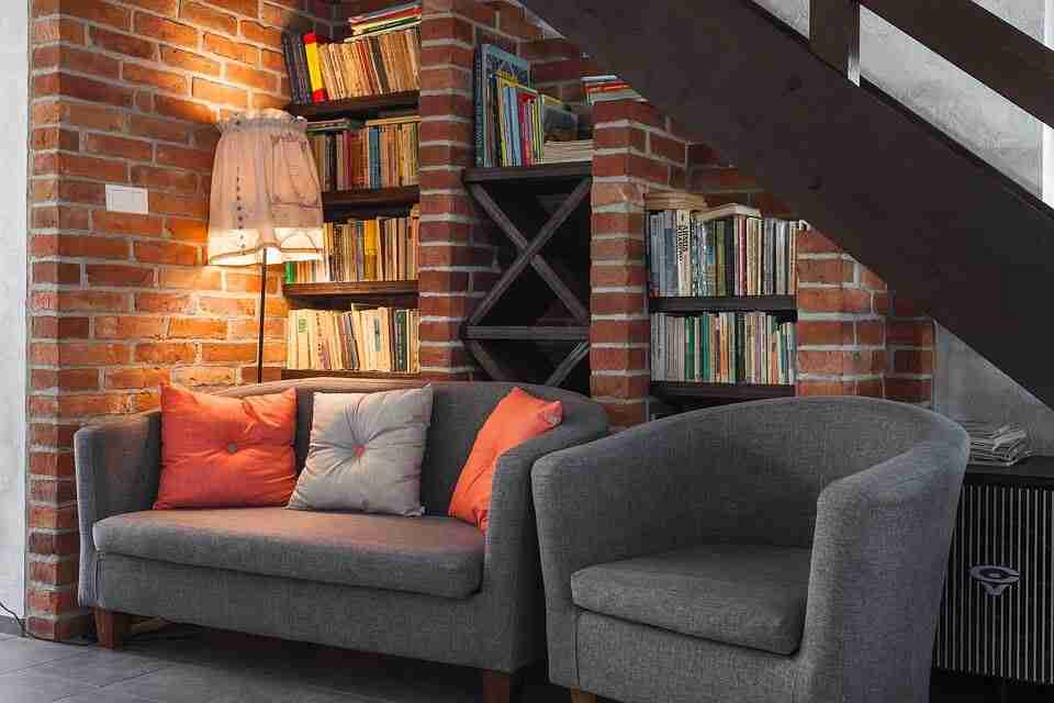 reading nook under stairs