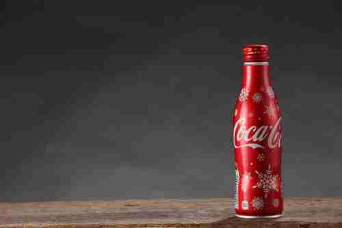 coca cola bottle isolated